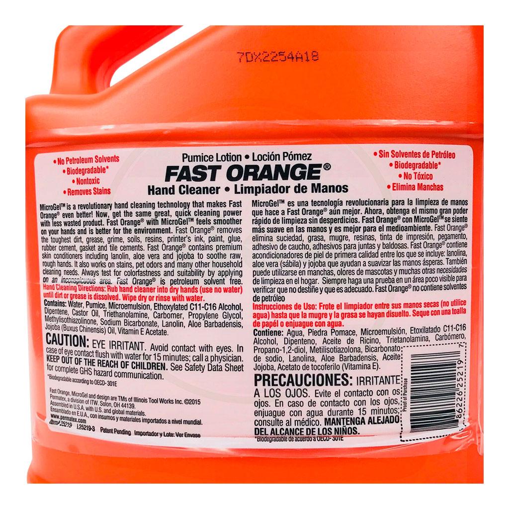 25219 Fast Orange Hand Cleaner 1 gal. 3